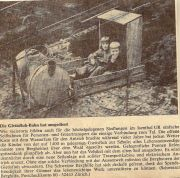 095-Foto  01117 - Die alte Gietisfluh-Seilbahn Zeitungsausschnitt