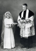 Foto 03990 - Priester mit geistl. Bräutchen 1953