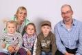 Gasser-Herger Vreni und Stefan mit Kindern (vl.) Seline, Jenny, Mike, Isenthal, 1982, 1987, 2009, 2012, 2015