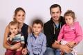 Bissig -Gisler Andrea und Matthias mit Kindern (vl) Timo, Elias, Anja, Isenthal 1984, 1985 , 2015, 2014. 2011