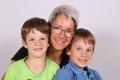 Stadler-Infanger Susanne mit Söhnen Tim und Robin, Isenthal, 1976, 2008, 2010