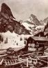 Foto 00399 - Lawinenniedergang 1917 , Stall zerstört , Haus Basler Huisli auf Gitschenen