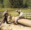 Foto 01049 - Infanger Franz und Sepp mit Hr. Moser