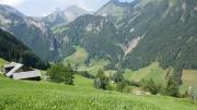 Blick vom Horlachen nach Gitschenen mit Singäuer Schonegg - Alpeler - Maisander - Brisen - Risetenstock