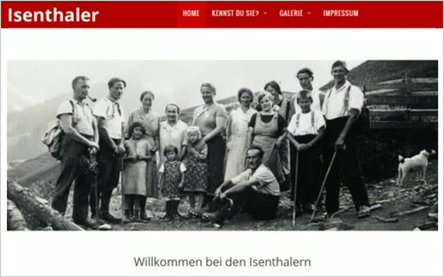 """Vom Familien-Fotoalbum zur Website """"isenthaler.ch"""""""