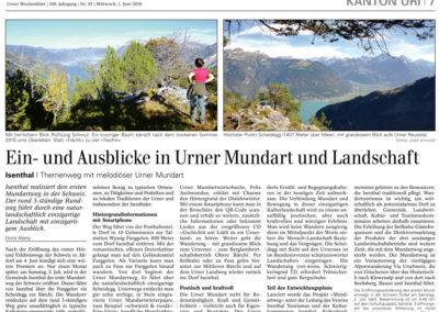 Ein- und Ausblick in Urner Mundart und Landschaft