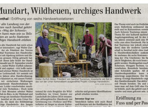 Mundart, Wildheuen, urchiges Handwerk