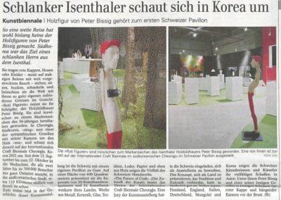 Schlanker Isenthaler schaut sich in Korea um