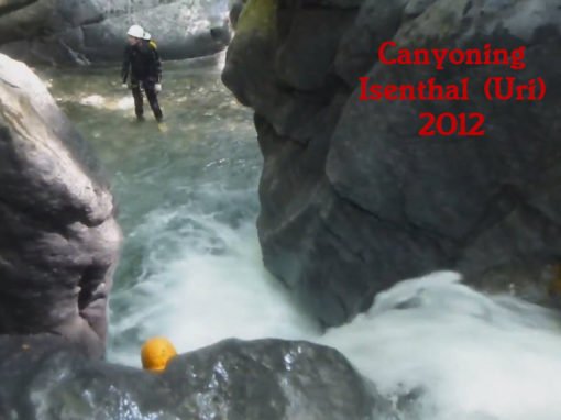 Canyoning Isenthalerbach 2012