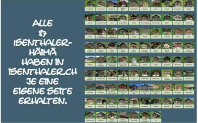 Alle Isenthaler-Häimä mit eigener Webseite